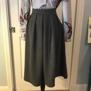 Charcoal grey A line skirt by Everleigh